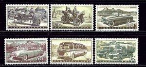 Czechoslovakia 890-95 MNH 1958 Motor Vehicles