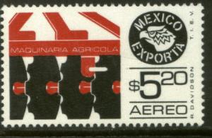 MEXICO EXPORTA C498, $5.20P FARM MACHINERY PAPER 1. MINT, NH. VF.