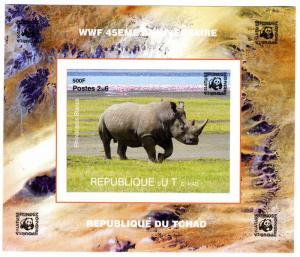 CHAD 2006 WWF 45th. Anniversary Rhino Deluxe s/s Mint (NH) #4