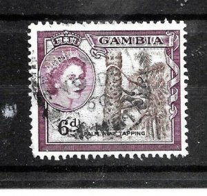Gambia Stamp- Scott # 159/A8-6 p-Canc/LH-1953-OG