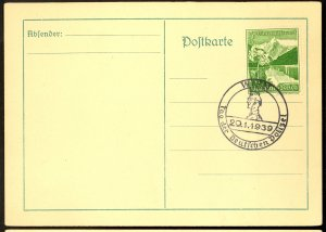 GERMANY USED IN AUSTRIA 1939 5+3pf Sc AB125 on Card w DAY OF THE GERMAN POLICE