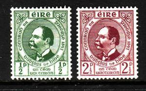 Ireland-Sc#124-5-unused light hinged set-Gaelic League-1943-