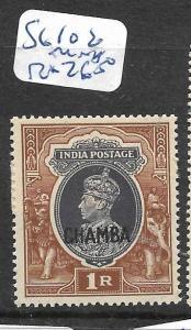 INDIA CHAMBA  (PP2905B)  KGV1  1R  SG 102     MNH
