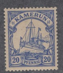GERMAN CAMEROUNS 10 MINT HINGED, YACHTS ISSUE 1900