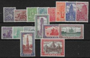 INDIA SG309/24 1949-52 DEFINITIVE SET MNH