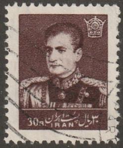 Persian stamp, scott# 1148, used, Cocolate brown, HR, big margins, #1148