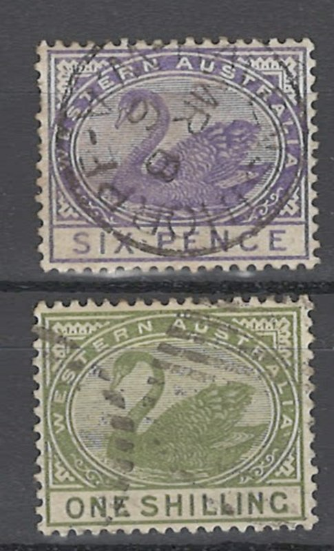 COLLECTION LOT # 1501 WESTERN AUSTRALIA #67-68 1890 CV=$14