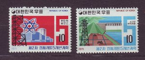 J23336 JLstamps 1967-71 south korea mnh #577-8 designs