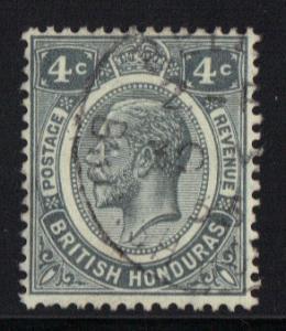 British Honduras 1922 used 4ct grey   #