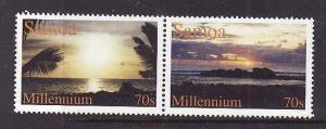 Samoa-Sc#988a-Unused NH set-Millennium-2000-