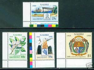 NAURU Scott 343-6 complete 1988 MNH** set CV$10.20