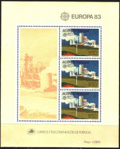 Azores. 1983. bl 4. Geothermy, europe-sept. MNH.
