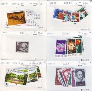 Z526 Jlstamps germany ddr mh/mnh 16 all dif sets, appears to be 1998-9 scv