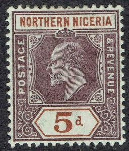 NORTHERN NIGERIA 1905 KEVII 5D WMK MULTI CROWN CA