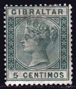 Gibraltar. 1889. 22 of the series. Queen Victoria. MLH.