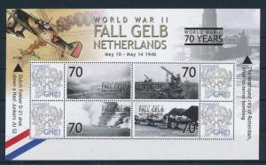 [81157] Ghana 2009 Second World war Fall Gelb Netherlands Sheet MNH