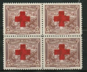 COLOMBIA STAMP BLOCK SC# RA26 1946 RED CROSS H