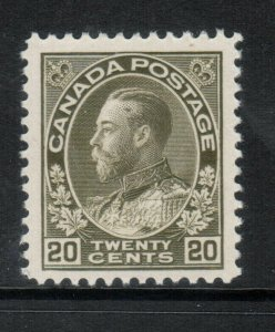 Canada #119iv Very Fine Never Hinged Retouched Vertical Line *With Certificate*