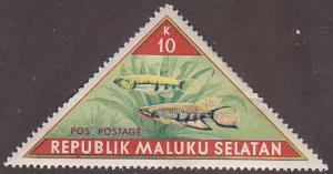 Republik Maluku Selatan 10k Unused 1954 Fish
