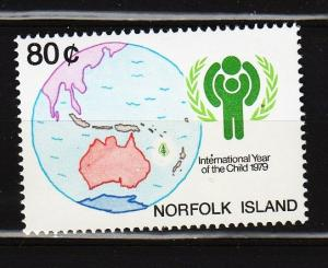 Norfolk Island -  #250 Year of the Child  - MNH