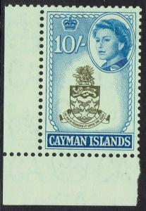 CAYMAN ISLANDS 1962 QEII ARMS 10/- MNH **