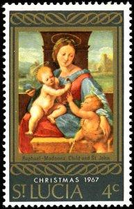 ST. LUCIA Scott 227-228 MNH - Christmas 1967-Raphael Painting