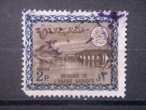 SAUDI ARABIA, 1966, used 2p, Type II, Scott 394
