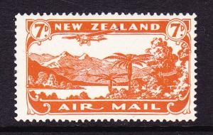 NEW ZEALAND 1931 7d AIRMAIL MNH   SG 550