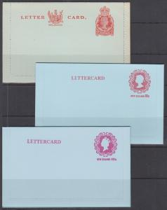New Zealand H&G A39 + 2 Later Letter Cards, unused, VF