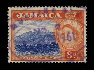 JAMAICA - 1961 -  MONTEGO BAY N°2  Purple Oval Temporary Rubber DS on SG 167