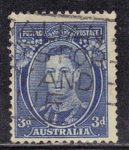 AUSTRALIA SC# 170 USED 3p 1937-46  ROYALTY  SEE SCAN