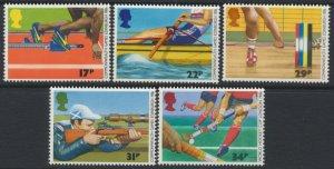GB SC# 1149-1153   SG 1328-1332 MNH Sports, Commonwealth Games 1986