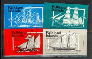 Falkland Islands booklets (SG SB2-5) - set of 4