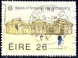Bank of Ireland Bicentenary, Ireland stamp SC#558 used
