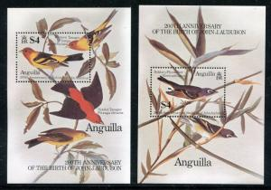 Anguilla 617-618, MNH, Birds, Audubon Birth Bicentenary. 1985. x29021