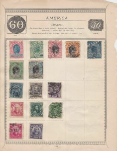 America Stamps on Album Page ref  R 18896