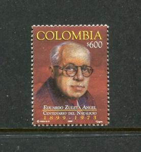 Colombia 1154, MNH, Famous People Dr. Eduardo Zueta Angel 1999. x23449