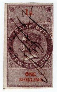 (I.B) New Zealand Revenue : Stamp Duty 1/- (inverted watermark)