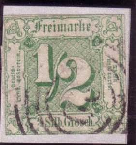 * Thurn & Taxis Sc. # 9 Used  F/VF CV $125.00