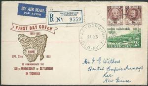 AUSTRALIA 1953 Tasmania commem FDC.........................................41059