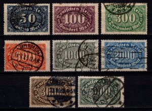 Germany 1922 Weimar Republic Definitives, Part Set [Used]