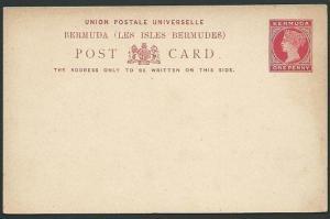 BERMUDA QV 1d postcard unused..............................................42404