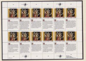 United Nations Geneva #234 MNH 1993 declaration 50c  Picasso  sheet of 12