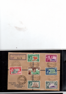 PITCAIRN ISLANDS 1940 REGISTERED FDC