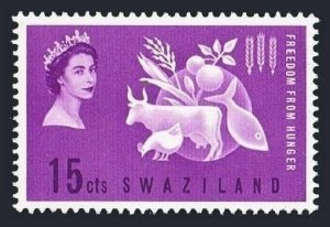 Swaziland 108 block/4,MLH/MNH.Michel 108. FAO 1963.Freedom from Hunger campaign.