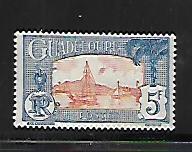 GUADELOUPE, 135, MINT HINGED HINGE REMNANT, HARBOR SCENE