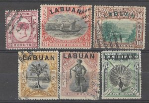 COLLECTION LOT # 3723 LABUAN 6 STAMPS 1892+