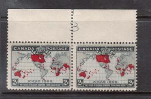Canada #85 Mint Plate #3 Pair
