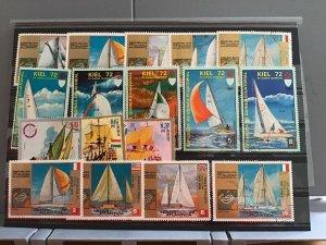 Rep De Guinea Ecuatorial Sailing Boats and Ships  stamps  R25131