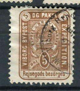 NORWAY; VIBORG 1860s-80s early classic By Post Local issue fine used